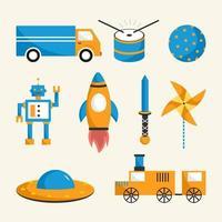 Decorative children toys vector