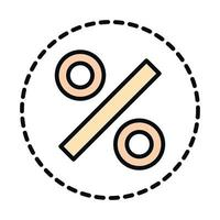 math education school science percentage line and fill style icon vector