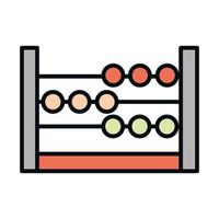 math education school science abacus arithmetic line and fill style icon vector