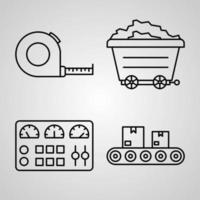 Industry Icon Set Vector illustration EPS