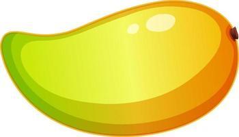 mango amarillo en estilo de dibujos animados aislado vector