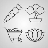 Farming And Gardening Icon Set Vector illustration