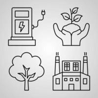 Ecology Icon Set Vector illustration