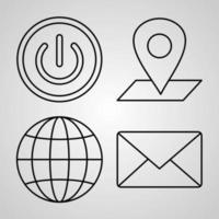 Web Icon Set Vector illustration