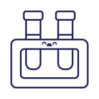 tube tests laboratory kawaii line style vector