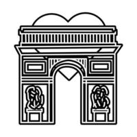 Arch of Triumph france monument line style icon vector