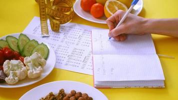A Person Filling out a Diet Journal video