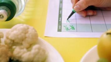 A Food Calendar Being Used video