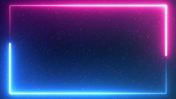 Blue and Pink Space Neon Border with Stars video