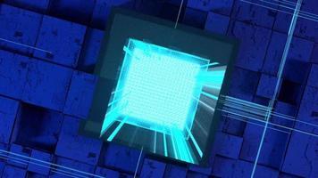 placa de circuito do chip do computador video