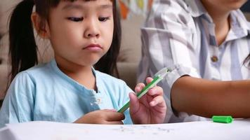 Sad tired frustrated boy and mother doing schoolwork at home. Learning difficulties, home school education concept. video