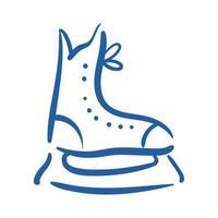 hockey skate hand draw style icon vector