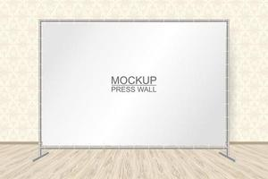 HORIZONTAL STAND WITH AN EMPTY BANNER TEMPLATE vector