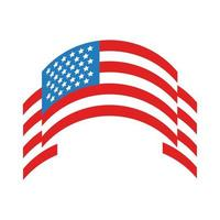 ribbon with usa flag flat style vector