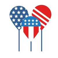 balloons helium with usa flag flat style vector
