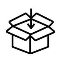 box and arrow delivery service flat style vector