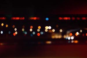 coloridas luces de boket en la noche foto