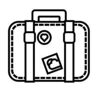 suitcase travel line style icon vector