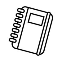note book line style icon vector