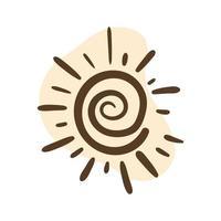 sun boho block organic style vector