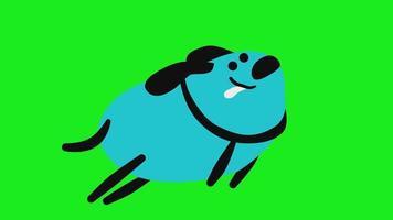 Animation of running Dog video