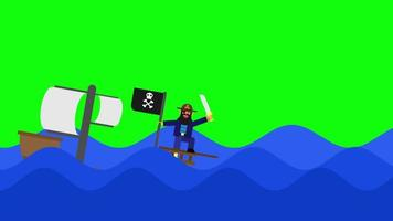 Animation of Pirate ship video