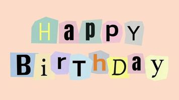 Happy Birthday Pastel Cut Out Letters video