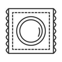 icono de línea de condón de anticoncepción de salud sexual vector