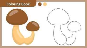 Coloring Book Mushroom vector