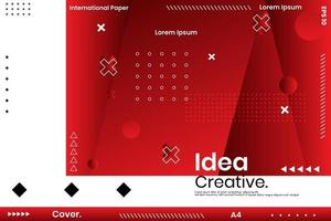 Vector illustration of Abstract Polygons and Lines on Vector Background