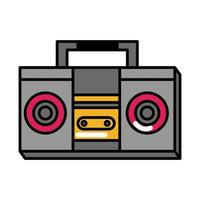 boombox music pop art comic style flat icon vector