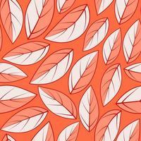 Modern leaf illustration pattern Tropical background with leaves vector
