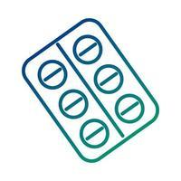 pastillas sellan drogas estilo de línea vector
