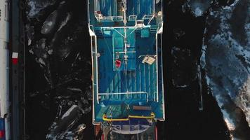 Top Down of The Deck of A Ship video