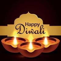 Indian festival happy diwali the festival of light celebration background vector