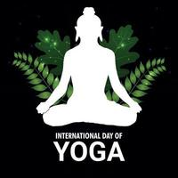 International yoga day celebration background vector