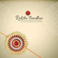 Raksha bandhan indian festival greeting card with creative rakhi vector