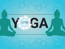 Vector illustration of yoga day celebration background