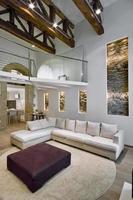 Interior shot of a modern living room photo