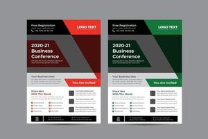 Business Conference Flyer Design Template vector