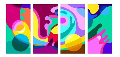 Vector colorful abstract psychedelic liquid and fluid background pattern