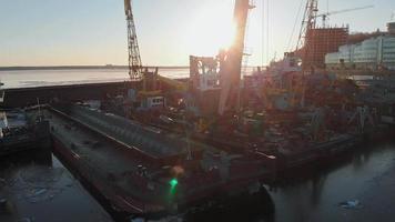 Ships in A Ship Yard video