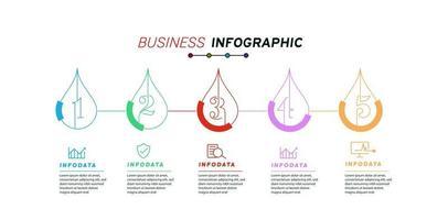 Design elements of business infographics Modern infochart marketing chart and graphs bar diagrams vector