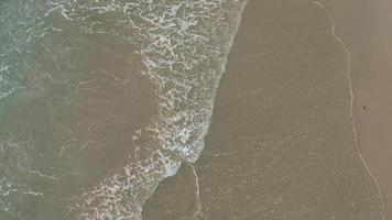 Aerial shot of waves breaking on the beach. video