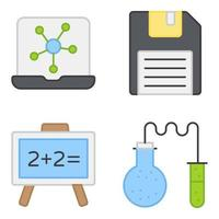 Pack of Floppy Flat Icons vector