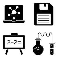 Pack of Floppy Glyph Icons vector