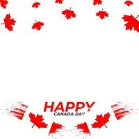 Happy canada day red frame beautiful vector