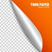 Transparent orange paper vector