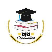 Beautiful high school graduation vector