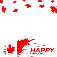 Happy canada day beautiful frame vector